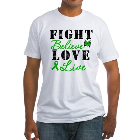 SCT FightBelieveLoveLive Fitted T-Shirt
