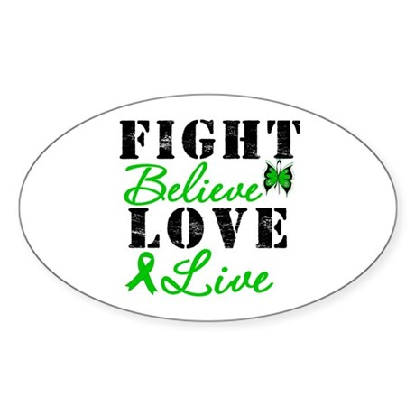 SCT FightBelieveLoveLive Oval Sticker