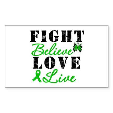 SCT FightBelieveLoveLive Rectangle Sticker 50 pk)