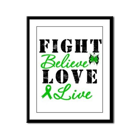 SCT FightBelieveLoveLive Framed Panel Print