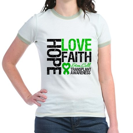 SCT Hope Love Faith Jr. Ringer T-Shirt