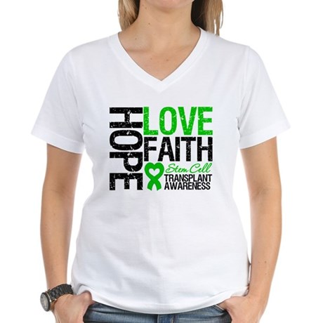 SCT Hope Love Faith Women's V-Neck T-Shirt