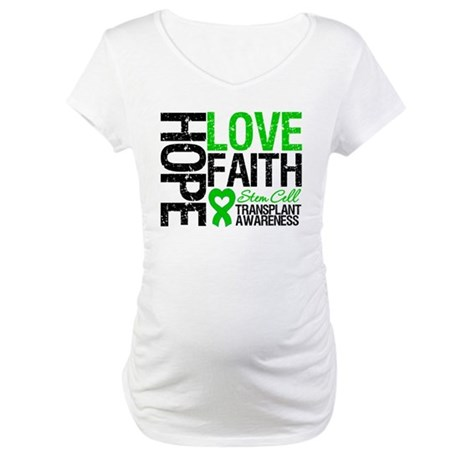 SCT Hope Love Faith Maternity T-Shirt