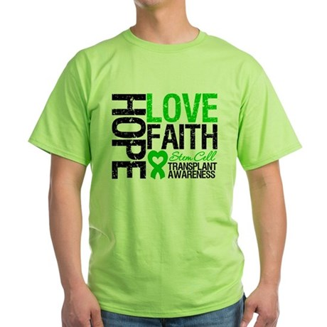 SCT Hope Love Faith Green T-Shirt