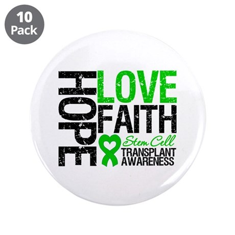 "SCT Hope Love Faith 3.5"" Button (10 pack)"