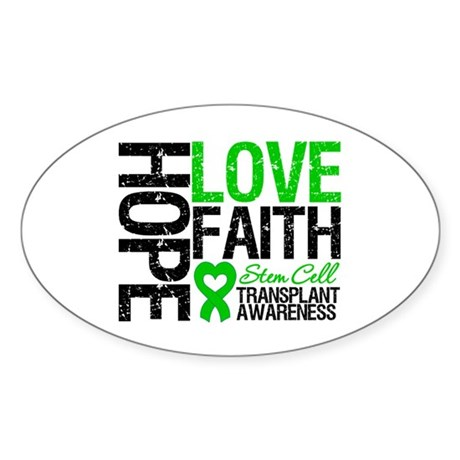 SCT Hope Love Faith Oval Sticker