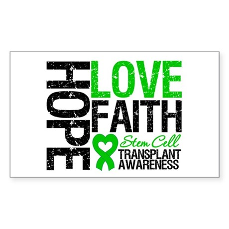 SCT Hope Love Faith Rectangle Sticker