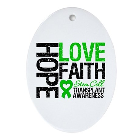 SCT Hope Love Faith Oval Ornament