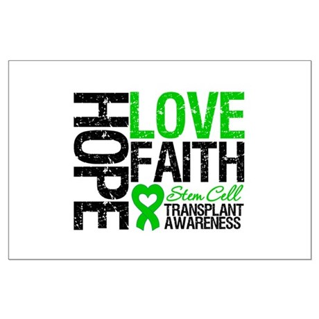SCT Hope Love Faith Large Poster