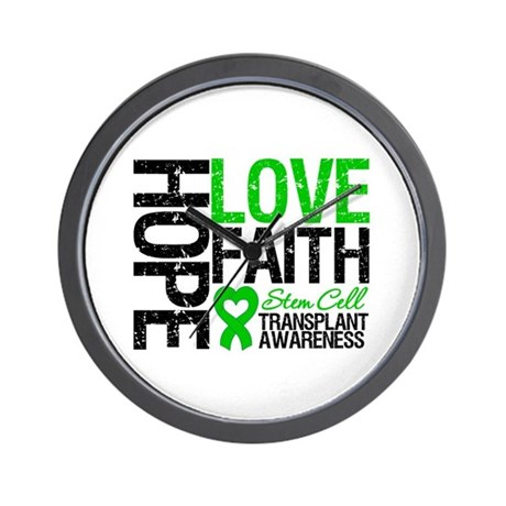 SCT Hope Love Faith Wall Clock