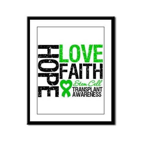 SCT Hope Love Faith Framed Panel Print