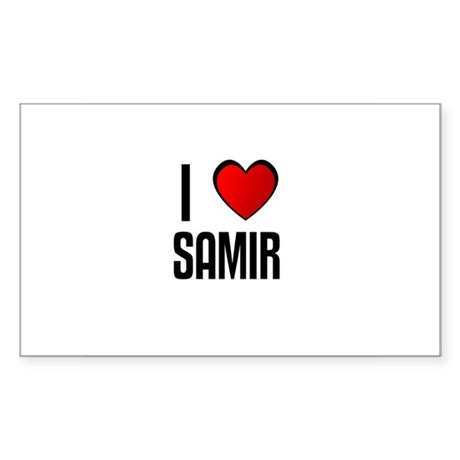 I LOVE SAMIR Rectangle Sticker