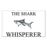 The Shark Whisperer Rectangle Decal