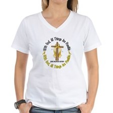 With God Cross CHILD CANCER Shirt