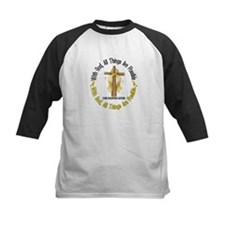 With God Cross CHILD CANCER Tee