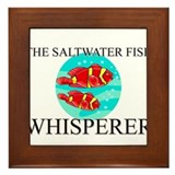 The Saltwater Fish Whisperer Framed Tile