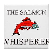 The Salmon Whisperer Tile Coaster