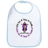 With God Cross CROHN'S Bib