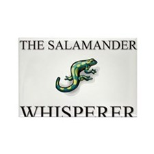 The Salamander Whisperer Rectangle Magnet