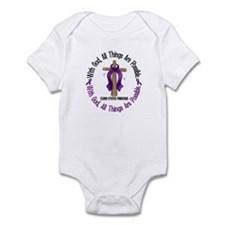 With God Cross Cystic Fibrosis Infant Bodysuit