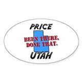 price utah - been there, done that Oval Decal