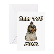 Shih Tzu Mom Greeting Card