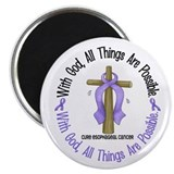 "With God Cross Esophageal Cancer 2.25"" Magnet (10"