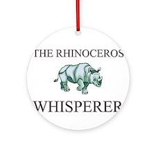 The Rhinoceros Whisperer Ornament (Round)