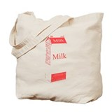 Vintage Milk Carton Tote Bag
