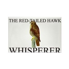 The Red-Tailed Hawk Whisperer Rectangle Magnet