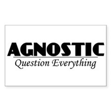 Agnostic Question Everything Rectangle Sticker 10