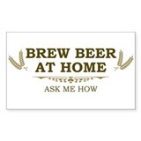 Brew at Home Rectangle Decal