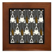 Papillons Framed Tile