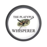 The Platypus Whisperer Wall Clock