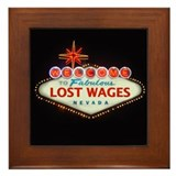 LOST WAGES Framed Tile