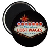 "LOST WAGES 2.25"" Magnet (10 pack)"