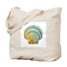 Tote Bag with Scallop Shell Artwork