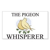 The Pigeon Whisperer Rectangle Decal