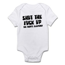 STFU the babys sleeping Infant Bodysuit