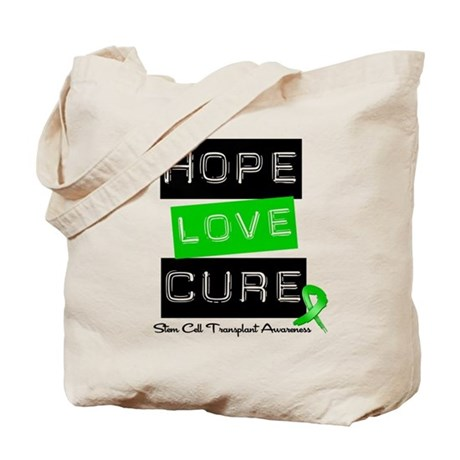 SCT Survivor Heart Ribbon Tote Bag