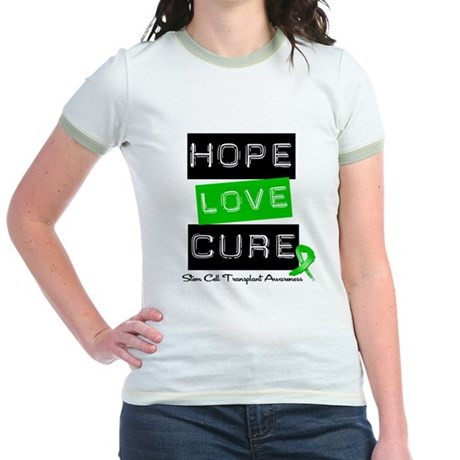 SCT Survivor Heart Ribbon Jr. Ringer T-Shirt