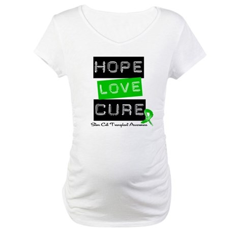 SCT Survivor Heart Ribbon Maternity T-Shirt