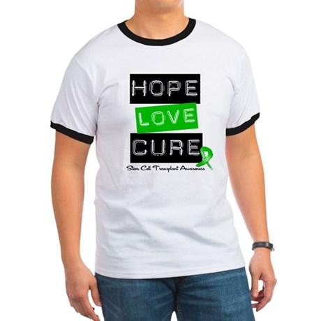 SCT Survivor Heart Ribbon Ringer T