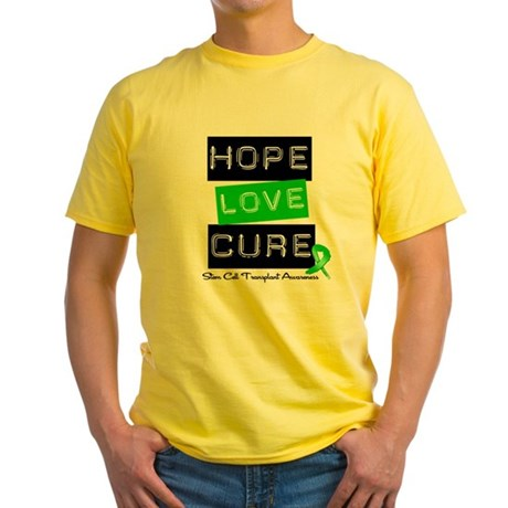 SCT Survivor Heart Ribbon Yellow T-Shirt