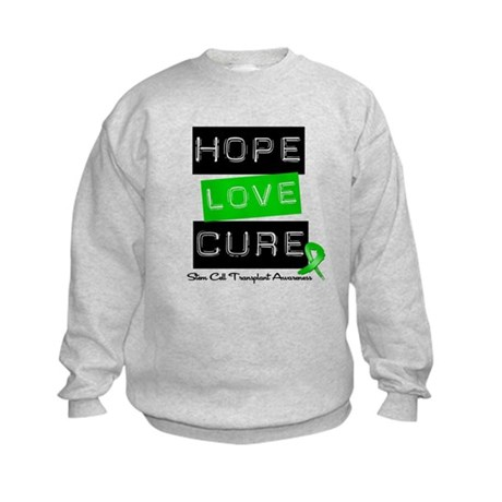 SCT Survivor Heart Ribbon Kids Sweatshirt
