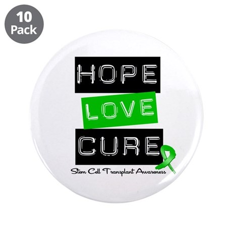 "SCT Survivor Heart Ribbon 3.5"" Button (10 pack)"