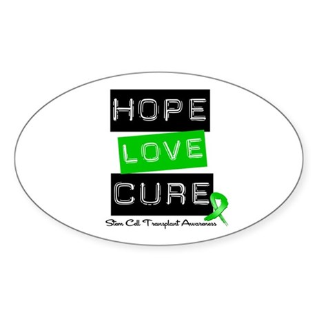 SCT Survivor Heart Ribbon Oval Sticker (10 pk)