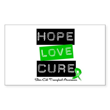 SCT Survivor Heart Ribbon Rectangle Sticker 10 pk