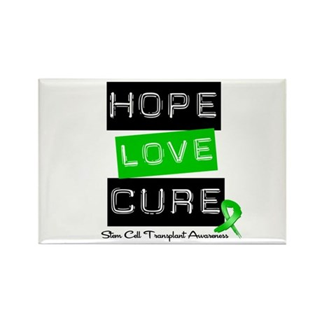 SCT Survivor Heart Ribbon Rectangle Magnet (10 pac