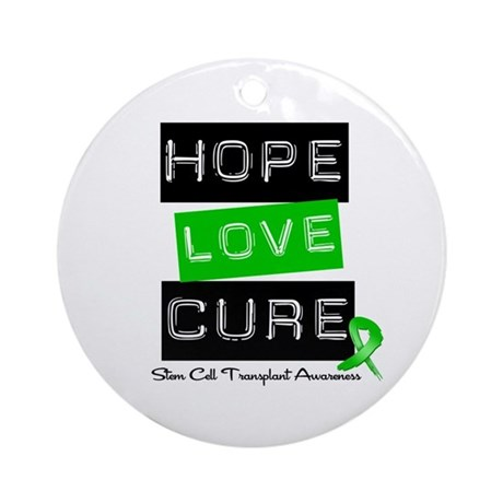 SCT Survivor Heart Ribbon Ornament (Round)